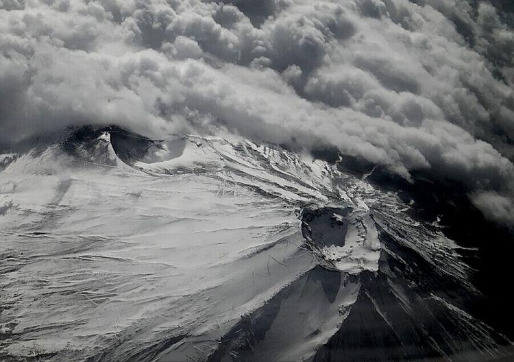 Mt.fuji From An Airplane Window Mauntain