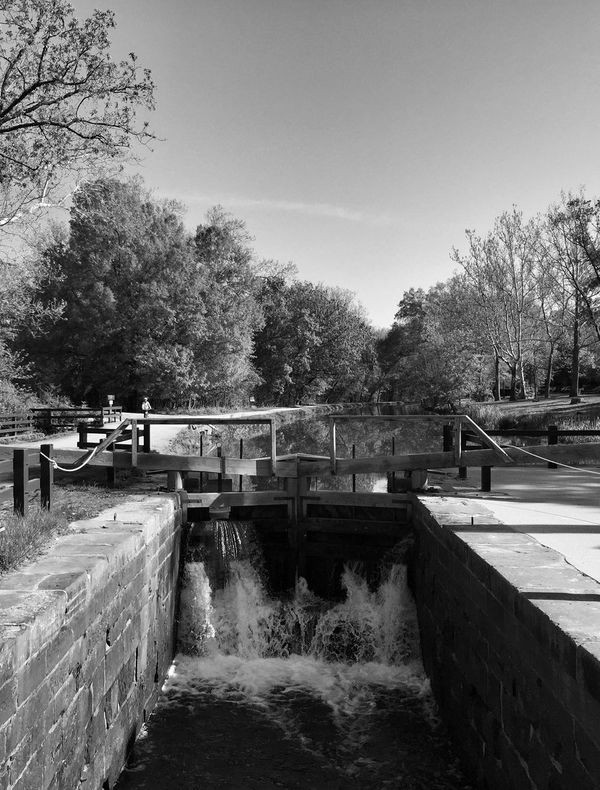 Blackandwhite Black And White Monochrome Urban Nature Canal Water Water_collection Nikon D750