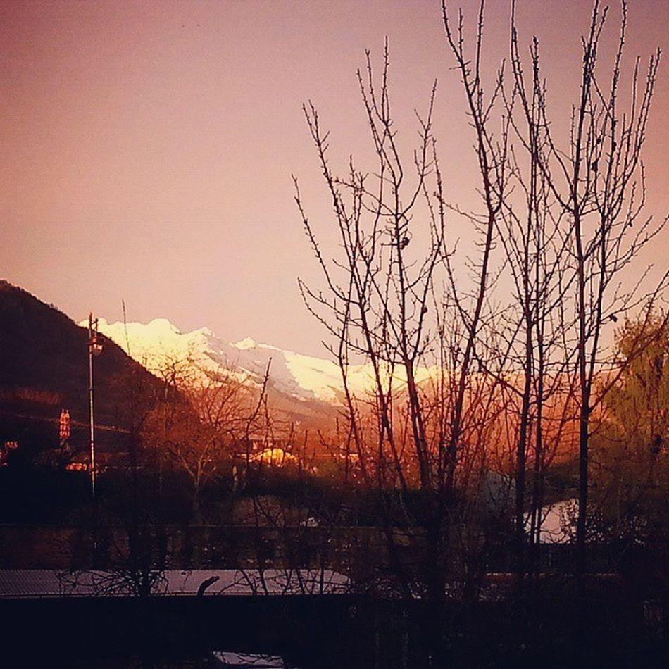 Buongiorno Monti sorgenti... Goodmorning Good Morning Landscape Valsangone Aboutvalsangone Mountains Snow
