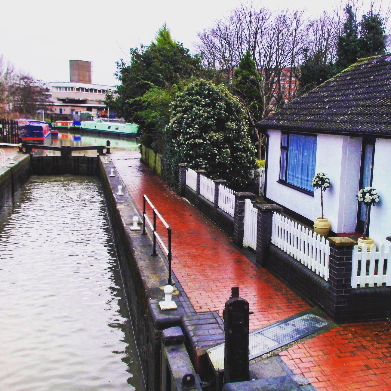 The lock keepers cottage, river Stort, Harlow Harlow River Stort Essex EssexCounty River England
