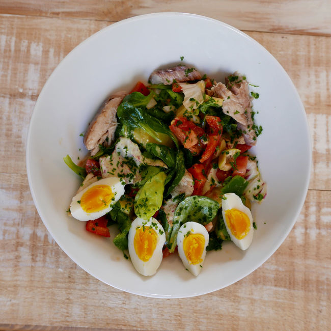 Bowl Close-up Food Food And Drink Freshness Healthy Eating Healthy Lifestyle Meal Organic Overhead View Plate Ready-to-eat Top Perspective Vegetable Vegetable Platter Hard Boiled Eggs...