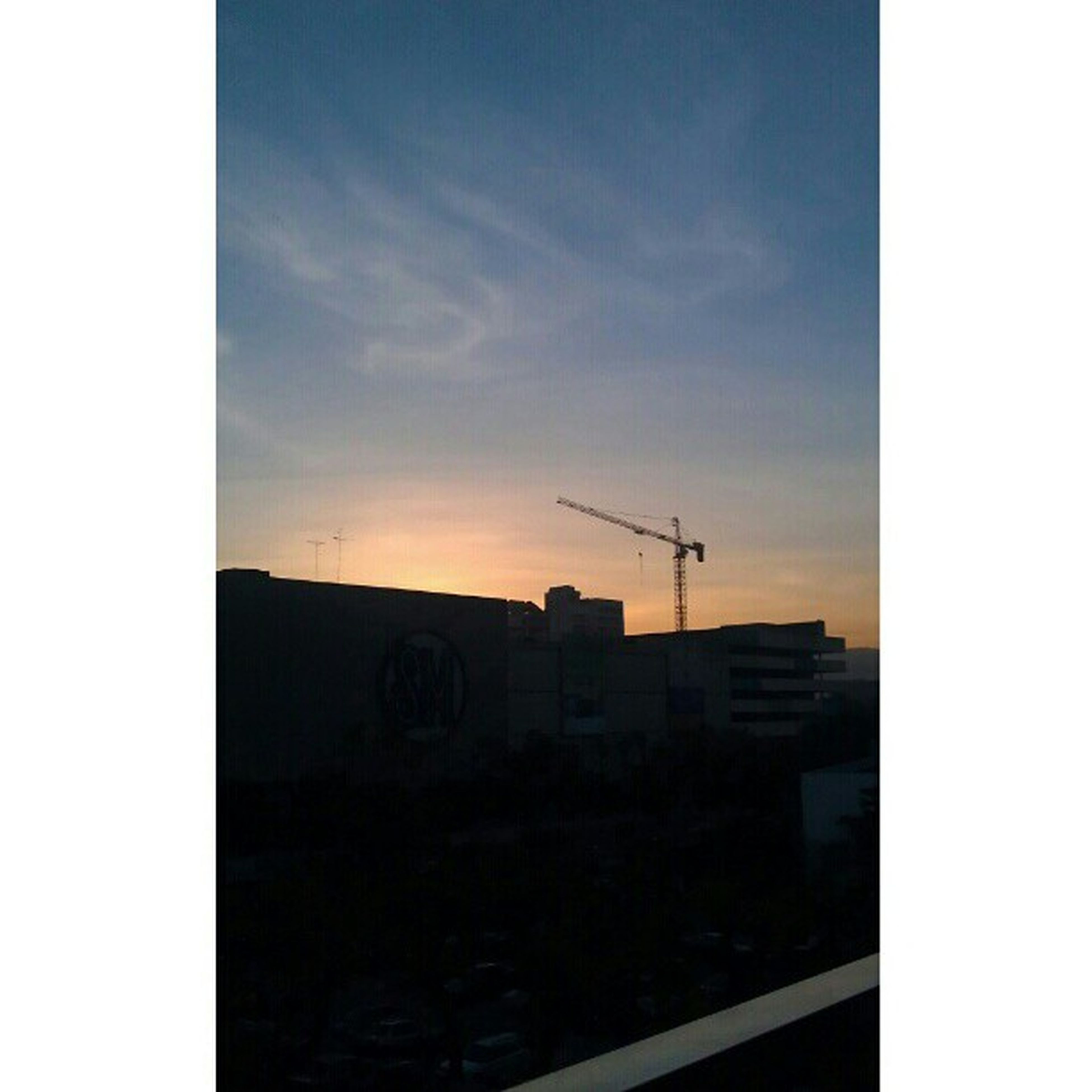building exterior, architecture, built structure, sunset, transfer print, sky, silhouette, auto post production filter, house, residential structure, cloud - sky, residential building, building, outdoors, dusk, low angle view, no people, cloud, power line, copy space