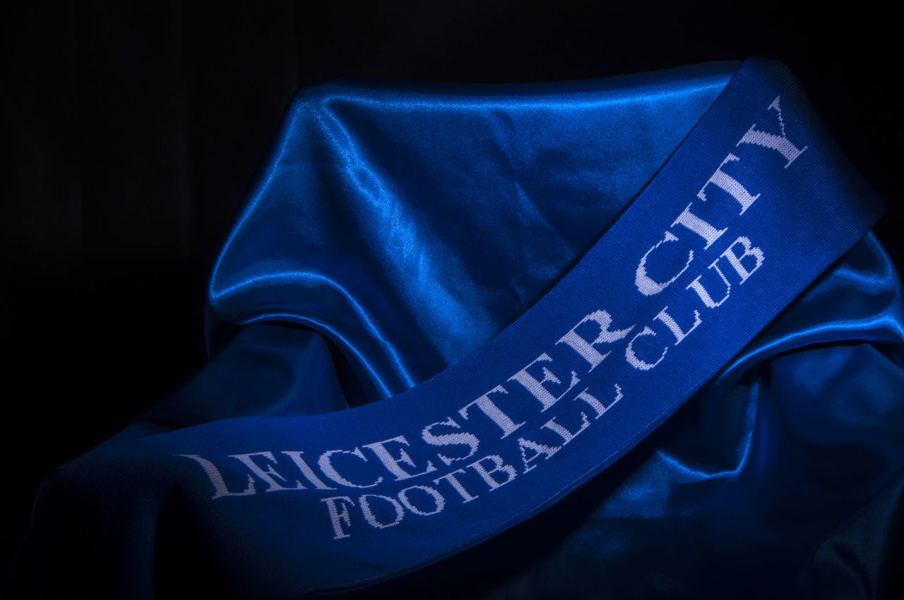 Blue Close-up Communication Focus On Foreground Information Information Sign Leicester City Lifestyles Part Of Proud Scarf Supporters Scarf Text The Week On Eyem Vignette Western Script Color Palette