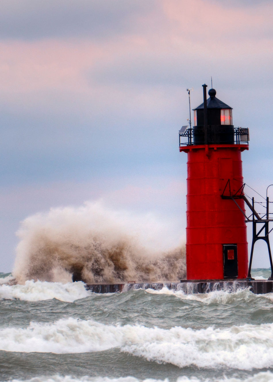 Architecture Danger Direction Guidance Lighthouse Motion Nature Orange Color Outdoors Power In Nature Protection Red Safety Scenics Sea Security Sky Splashing Stormy Water Stormy Waves Tower Water Waterfront Wave