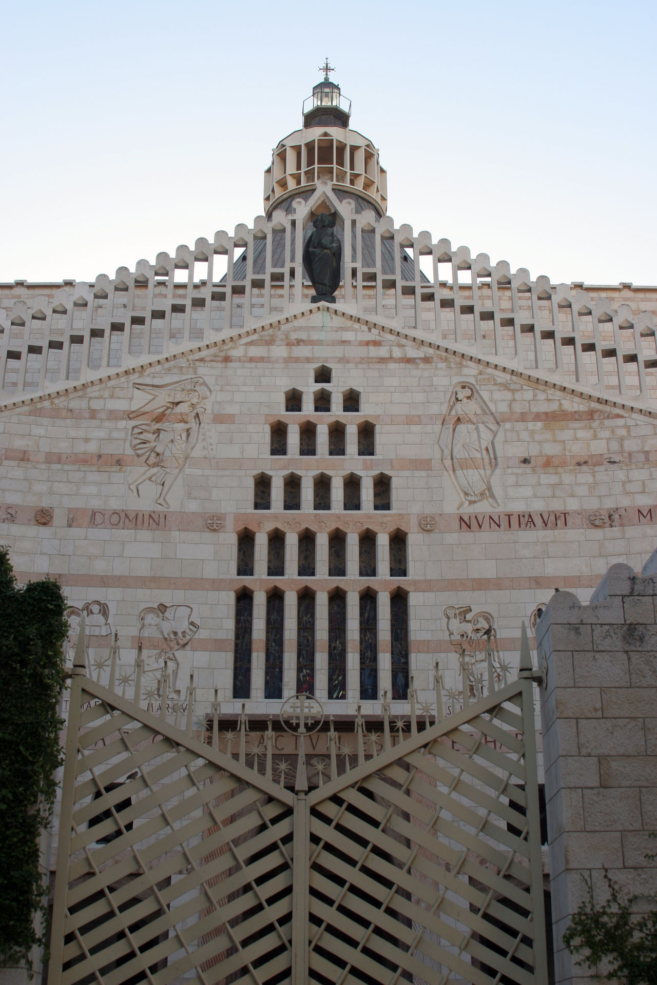 Basilica of the Annunciation, Nazareth, Israel Annunciation Archangel Gabriel Architecture Basilica Biblical  Building Exterior Built Structure Christianity Church Dome Franciscan History Holy Land Israel Middle East Nazareth Palestine Religion Sacred Shrine Spirituality Travel Destinations Virgin Mary Worship