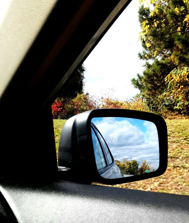 Thru The Window Mirror Carmirrorshot Checkthisout Sideviewmirrorshots Fallcolors Clouds And Sky Fallcolors Trees Leaves Fallcollection  Eyemshot Behind The Window Sidemirror Movingcarphotoseries