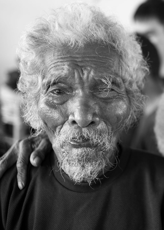 Old Man at medical station Aeta Community near Angeles City Aeta Close-up Headshot Health Minority Tribe Old Man Portrait Selective Focus Senior Citizen  The Photojournalist - 2016 EyeEm Awards The Portraitist - 2016 EyeEm Awards Weatherbeaten Face Worried