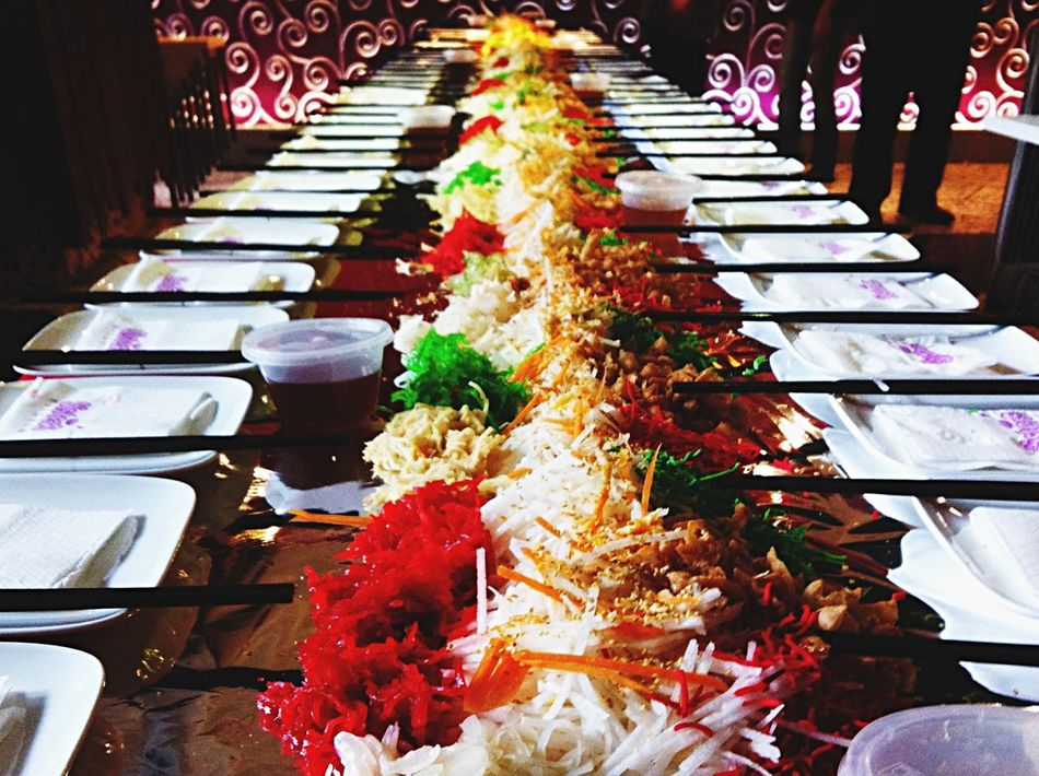 07-Mar-2015 Last day of Chinese New Year for 2015. Chap Goh Meh Cny 2015 Chinese New Year Lou Sang!  Kuala Lumpur Malaysia EyeEm Malaysia G Tower Sisters Kitchen @ G Tower