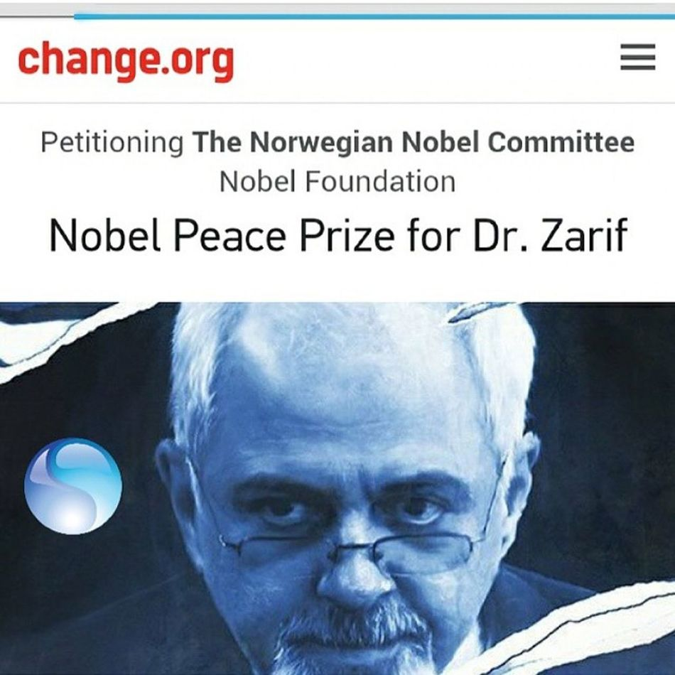 PEACE NO WAR Nobel Zarif Iran Persian No War Paece
