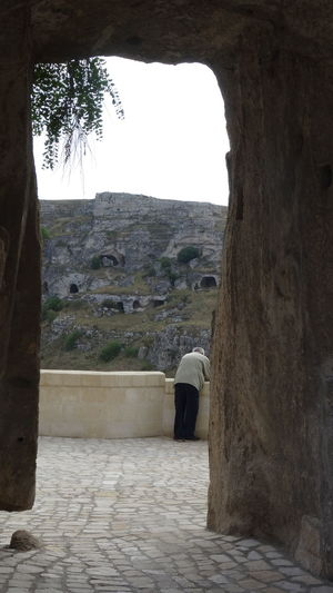 Arch Archway Backside Portrait Built Structure Looking Through Matera Nature Scenics Stone Material