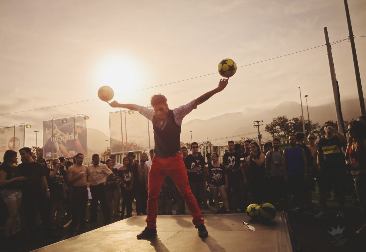 Sunset City Sky Motion Playing Men People Adult Match - Sport Show Festival Festival Season First Eyeem Photo