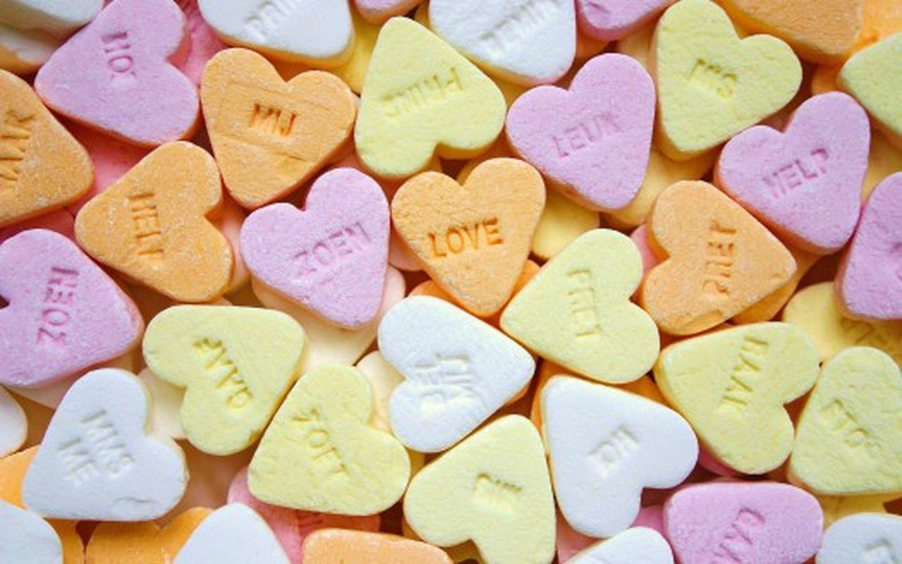 Love Heart Shape Large Group Of Objects Sweet Food Candy Heart Freshness