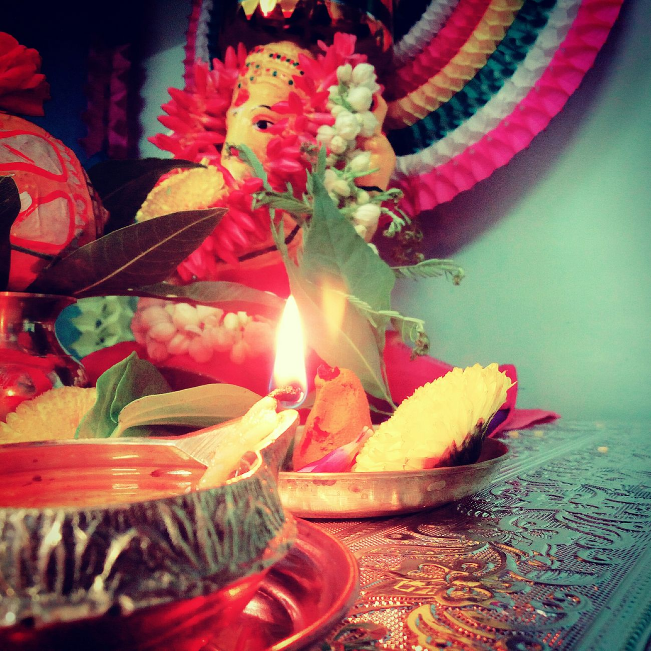 So.... like that view? Ganesh chaturthi Indoors  Flame Fire - Natural Phenomenon Close-up Decoration Multi Colored Flower Bunch Of Flowers Creativity Flower Arrangement Religious Offering Candlelight Lit No People Red Color Burning Visakhapatnam Follow4follow Followme India_clicks Followback