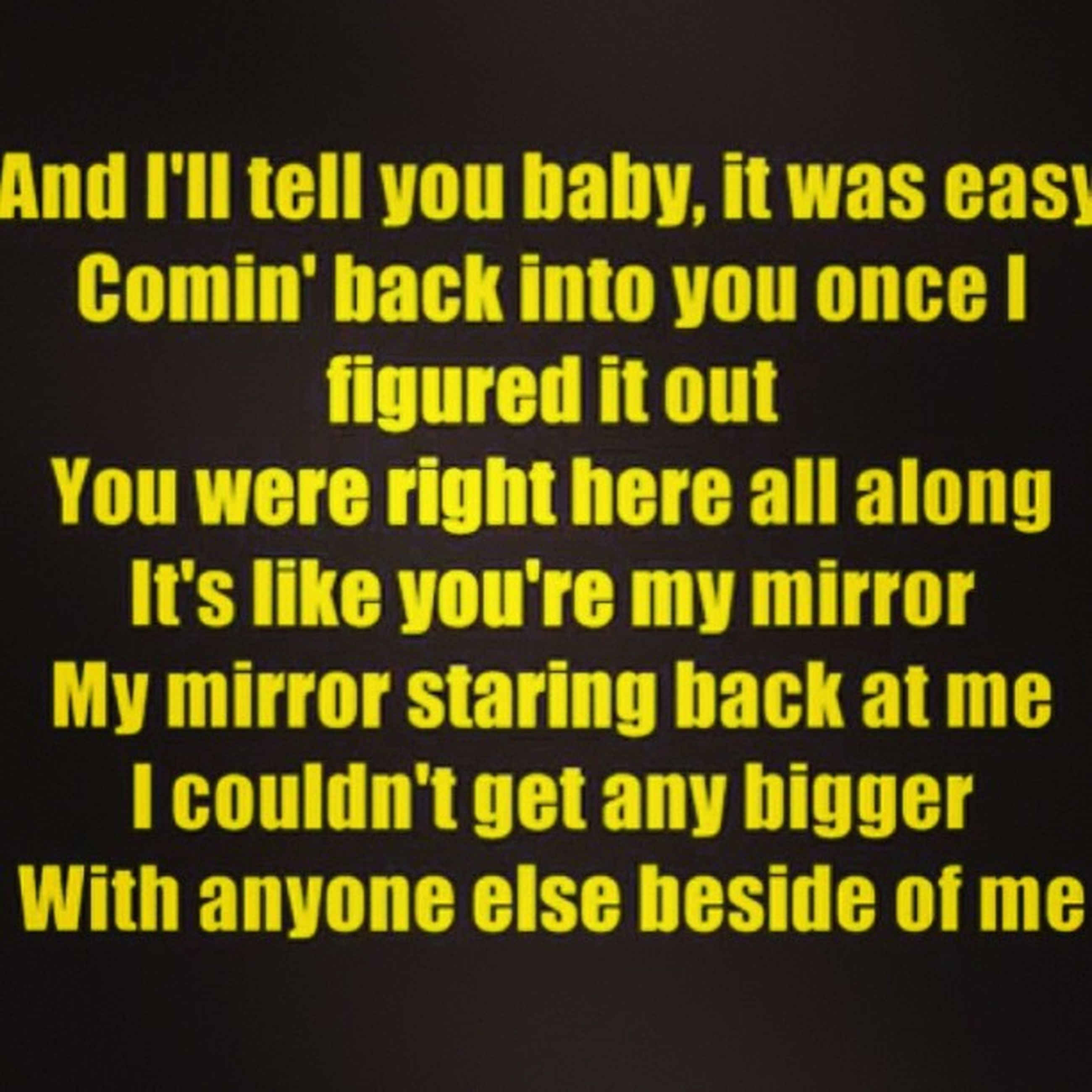 Can't stop listening to this song. Mirrors JT
