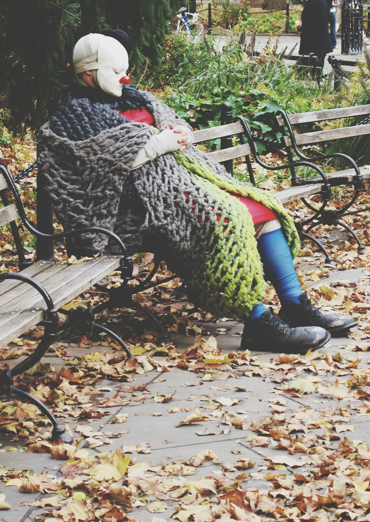 Beautiful stock photos of clown, Arts Culture And Entertainment, Autumn, Bench, Clown