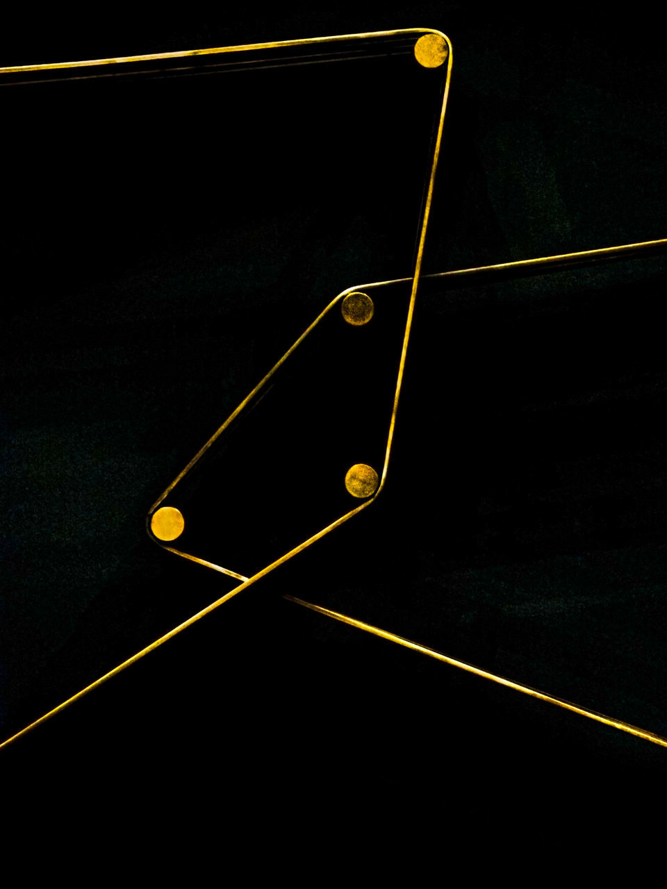 no people, night, gold colored, indoors, close-up, black background