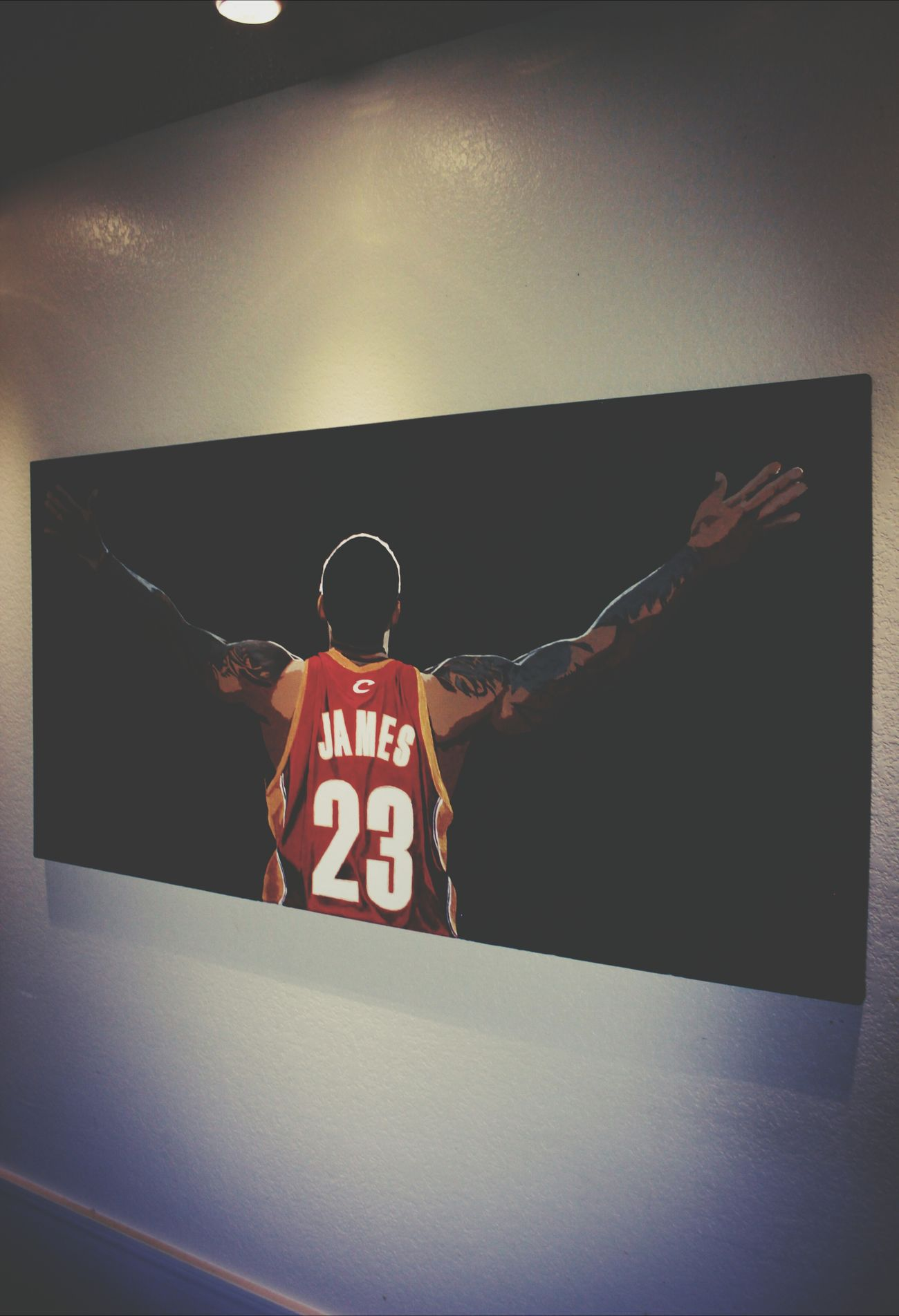 Painting LeBron James on a Tuesday www.raytennyson.com Lebron James Art NBA RayTennyson
