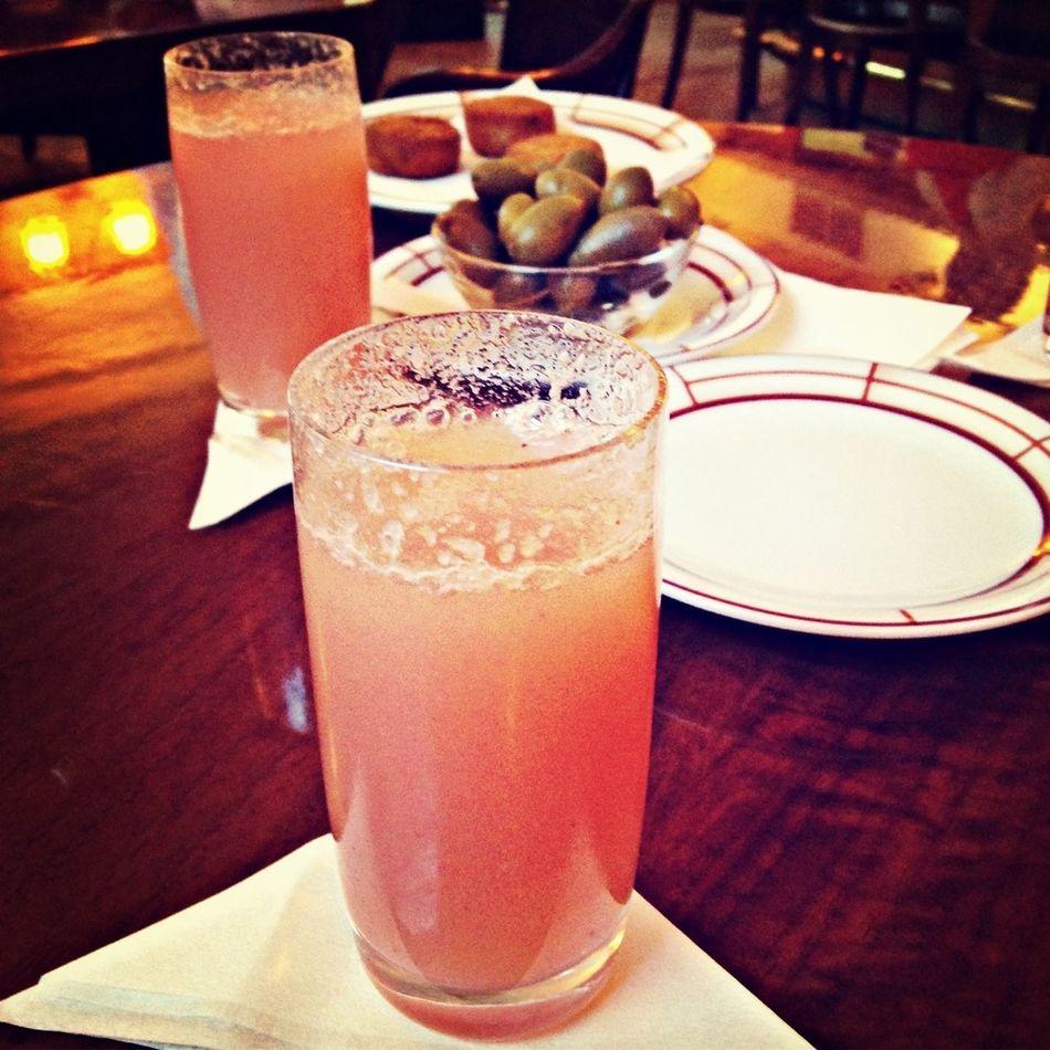Drinking Bellini