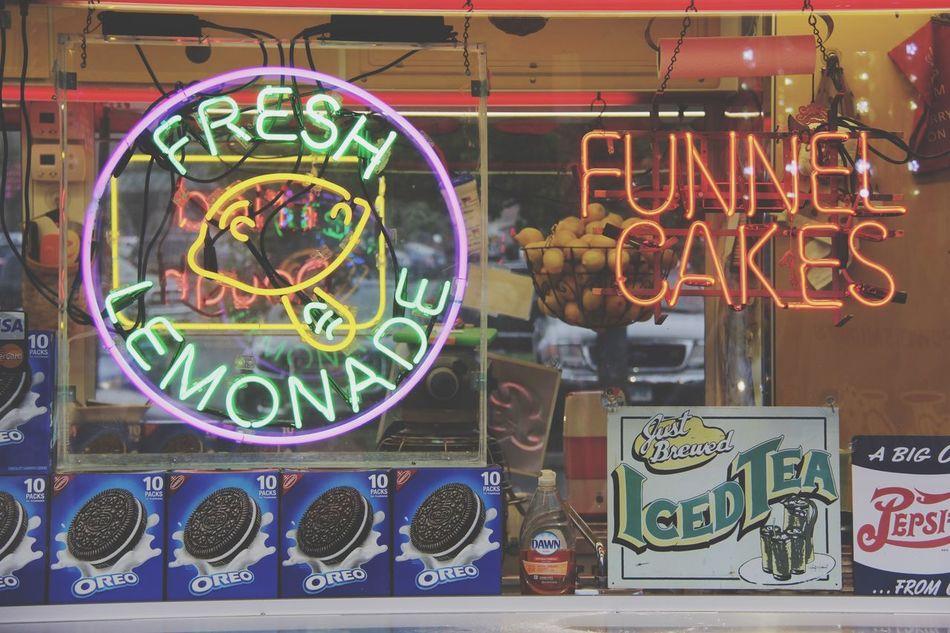 The Essence Of Summer Carnival Lights Multi Colored Neon Lights Neon Neon Sign Fresh Lemonade Fresh FunnelCake Sweets Treats