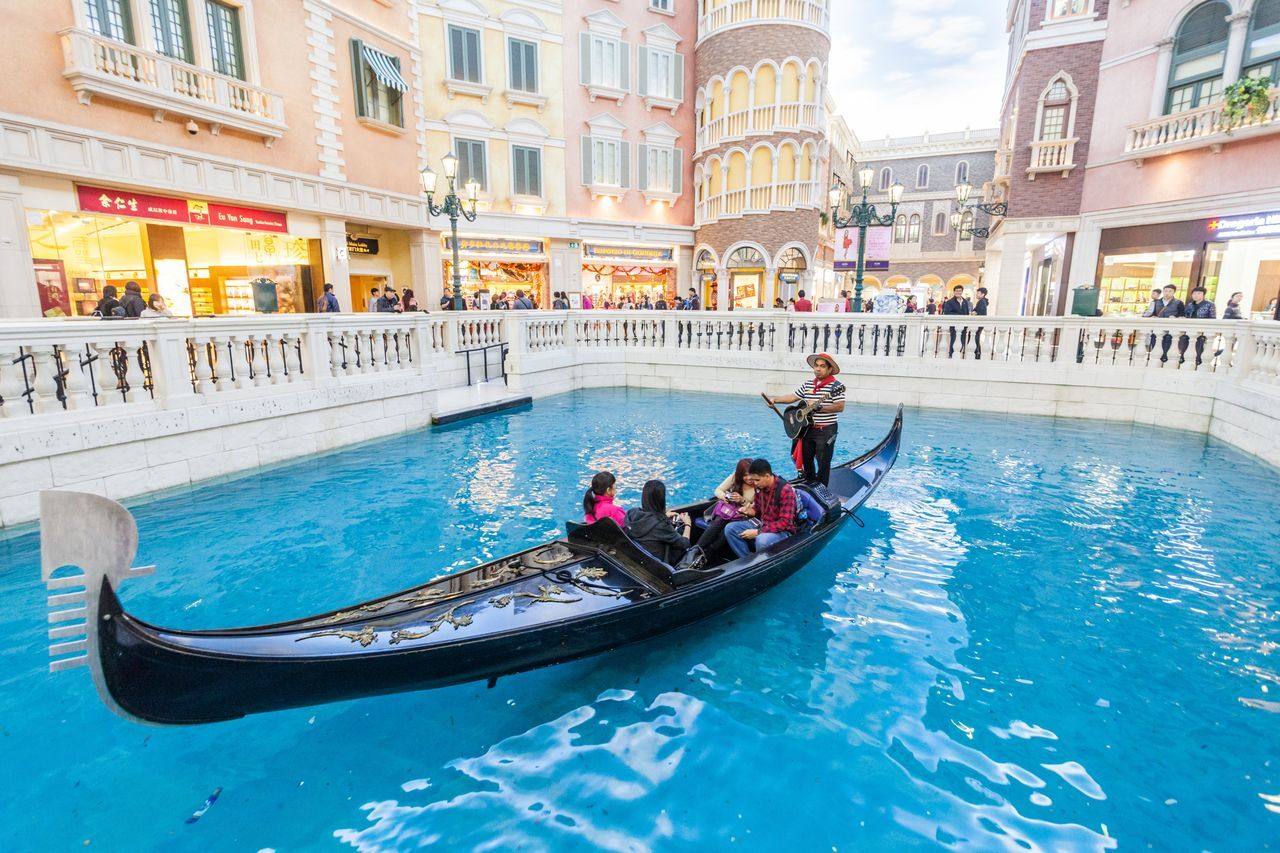 The Venetian Macao is a luxury hotel and casino resort in Macau owned by the American Las Vegas Sands company. Architecture Casino City Cotai CotaiStripMacau Day Gondola - Traditional Boat Hotel Interior Interior Design Macao  Macao China Macau Macau, China Nautical Vessel Outdoors People Shopping Shopping ♡ Sky The Venetian The Venetian Macau Resort Hotel Vacations Venetian Water