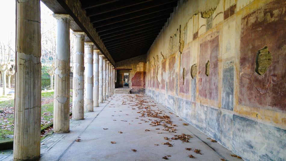 Ancient roman villa in Stabiae, bay of Naples, Italy Ancient Ancient Civilization Architecture Castellammare Di Stabia Columns Day Garden Indoors  No People Patio Roman Stabiae Villa