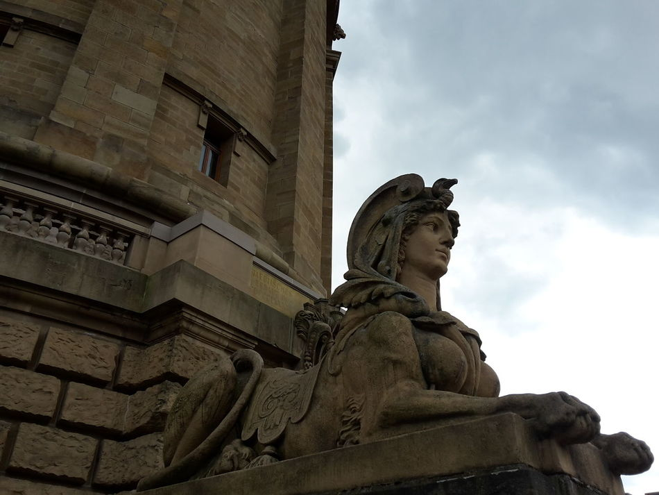 Cloud - Sky Gernany Mannhem No People Sculpture Statue Travel Destinations