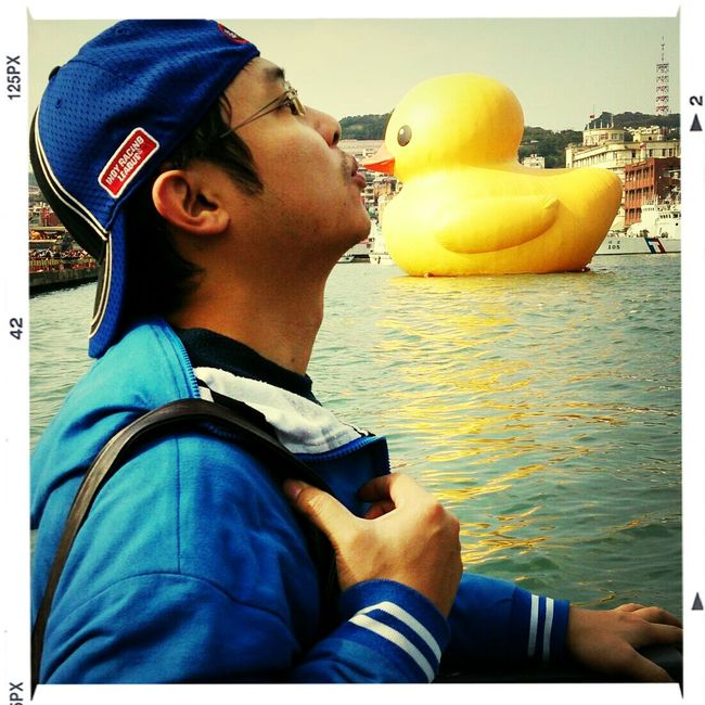 my first kiss to yellow duck in KeeLung