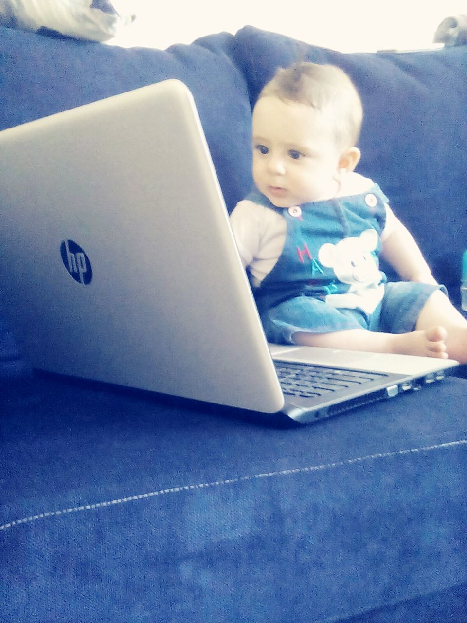 laptop, wireless technology, technology, using laptop, childhood, baby, communication, indoors, computer, one person, real people, sitting, learning, day, keyboard, people