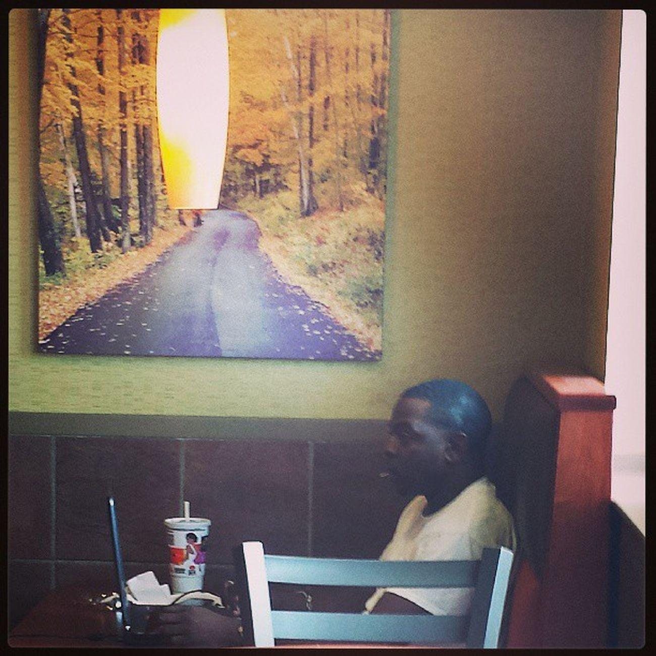 Drug dealer at small town McDonald's LOL Laptop Phone Nofood soda