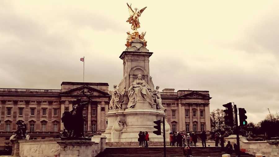 Buckingham Palace London Uk Angel Statue Victoria Memorial The Mall Winged Victory Gilded Bronze Queen Victoria  Thomas Brock Beaux Arts Edwardian Baroque City Of Westminster Showcase: February