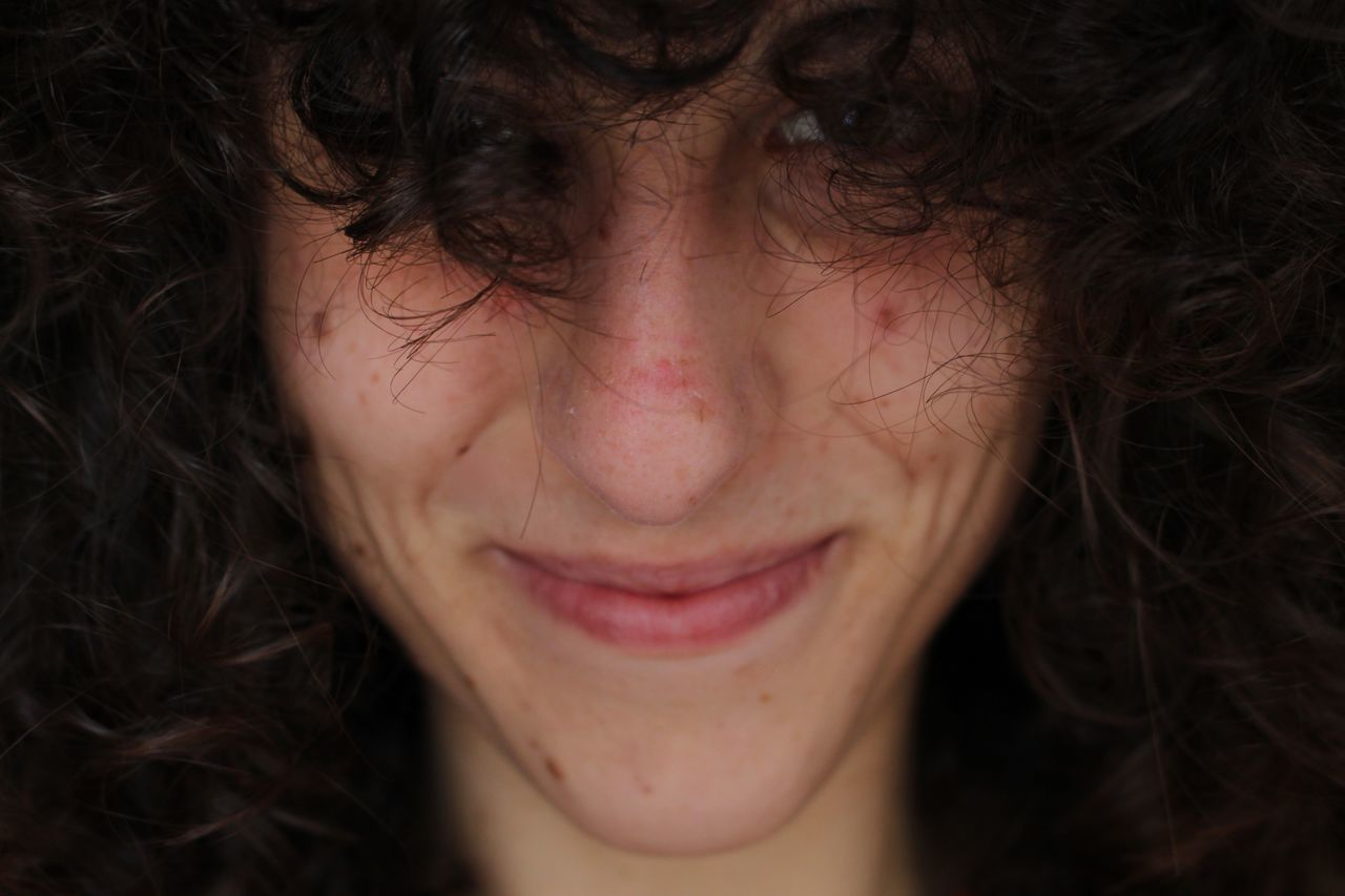 Adults Only Beautiful Woman Beauty CanonEOS100D Cesena Close-up Curly Hair Happiness Human Body Part Human Face Morgana One Person One Woman Only One Young Woman Only Only Women People Portrait Selfmade Studio Shot Women Young Adult Young Women