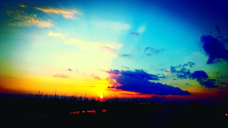Sunset on the Pontchartrain. copywrite 2012.