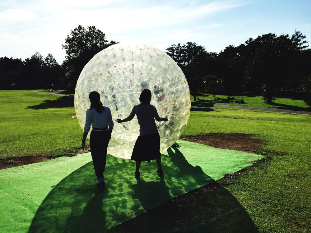 People And Places Enjoying zorbing at Koiwai farm. Check This Out Traveling Unique Tadaa Community Zorbing Travel Japan Sport Shadow My Year My View The City Light