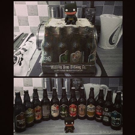 Another one of my Christmas prezzies, 12 bottles of local Williams Bother's beer. This stuff is the best beer/ale out there :D also, this is my Funko Pop! Batman's first pic and he'll be making a lot more appearances :p Scotland Scottish Beer ScottishBeer WilliamsBros Alloa Localbrew MicroBrewed Funkopop Batman