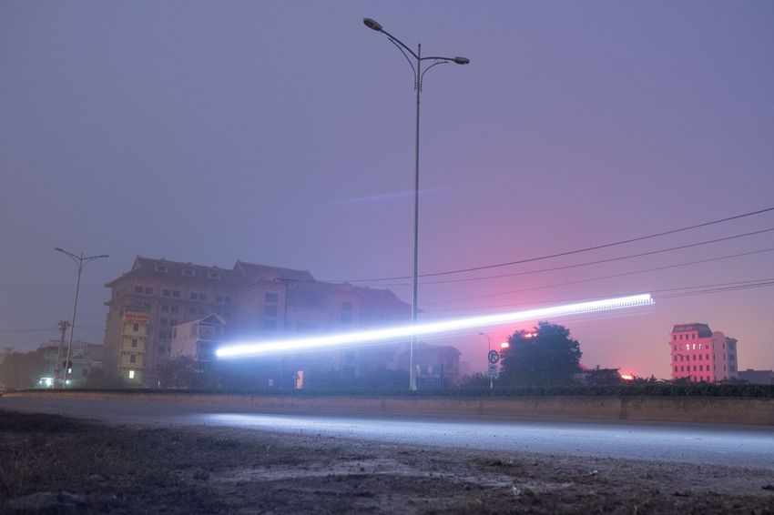 Ninh Binh, Vietnam Illuminated Street Light Outdoors Architecture No People Sky Urban Skyline Nightlife Cold Temperature Cityscape Building Exterior Built Structure