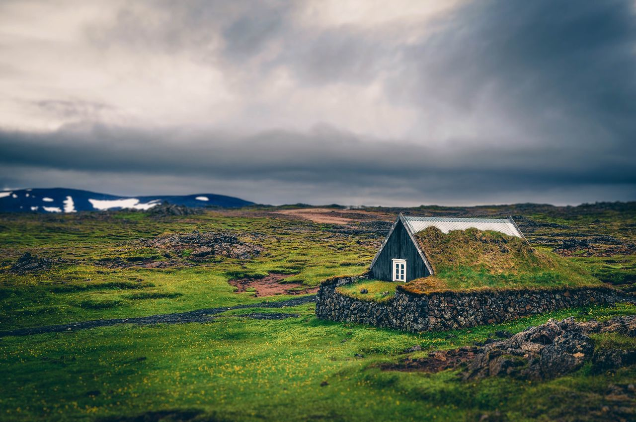 Peaceful house in Iceland Tranquil Scene Tranquility Sky Landscape Beauty In Nature No People Field Scenics Nature Countryside House Outdoors Building Exterior Green Color Cloud - Sky Architecture Country House EyeEm Nature Lover Iceland Travel Eyem Best Shots EyeEm Best Shots