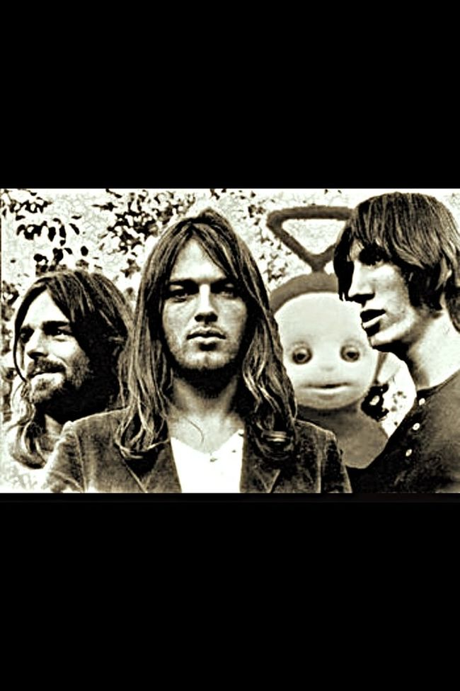 Pink Floyd Fan Forever Teletubbies Psychedelic Funny Blackandwhite Legend Davidgilmour Rogerwaters