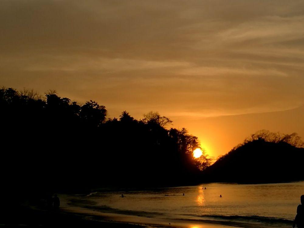 Sunset Silhouette Water Nature Sky Beach Costarica Descubrecostarica