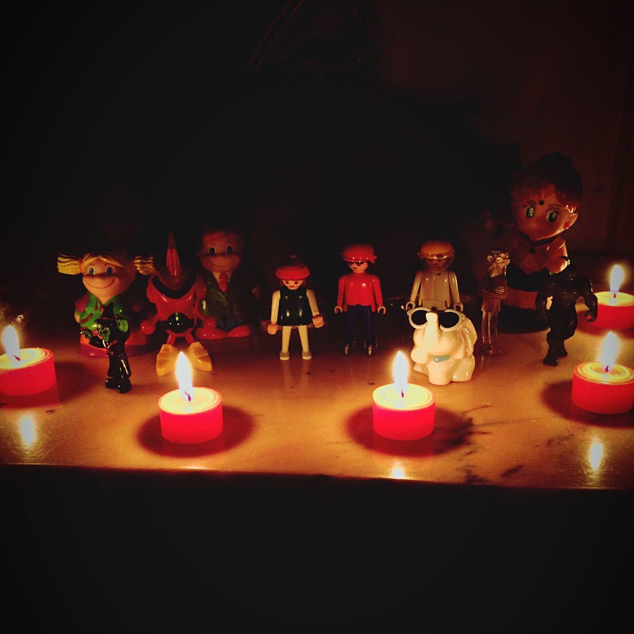 Candle Candlelight Flame Burning Illuminated Indoors  Table Lighting Equipment No People Tea Light Close-up Childhood Memories Childhood Toys EyeEm Gallery EyeEm Best Shots