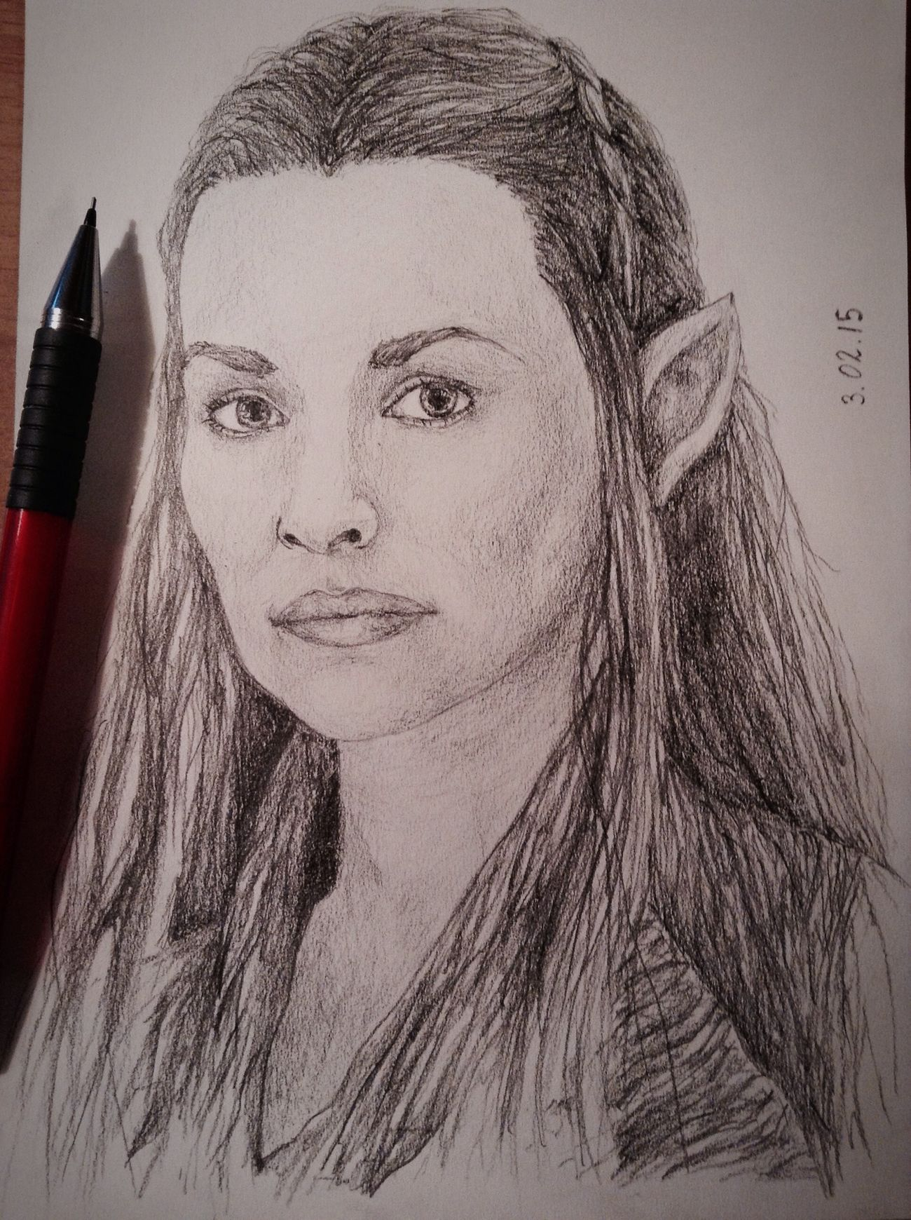 ✏️?Tauriel? Tauriel Drawing Exciting, Portrait Fanart Hobbit Art Cute Pencil Drawing Cool