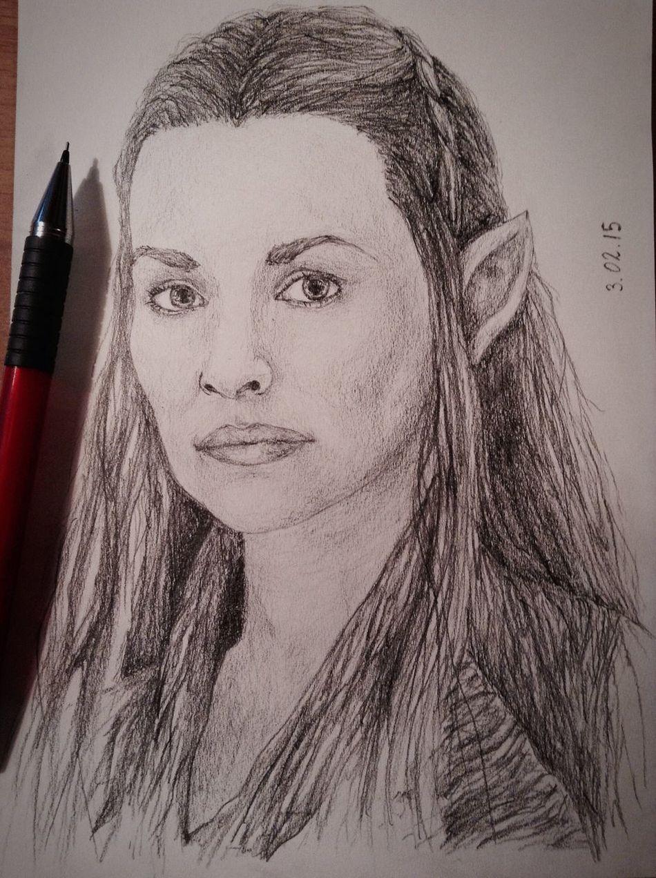 ✏️?Tauriel? Tauriel Drawing Exciting, Portrait Fanart Hobbit Art Cute Pencil Drawing Cool