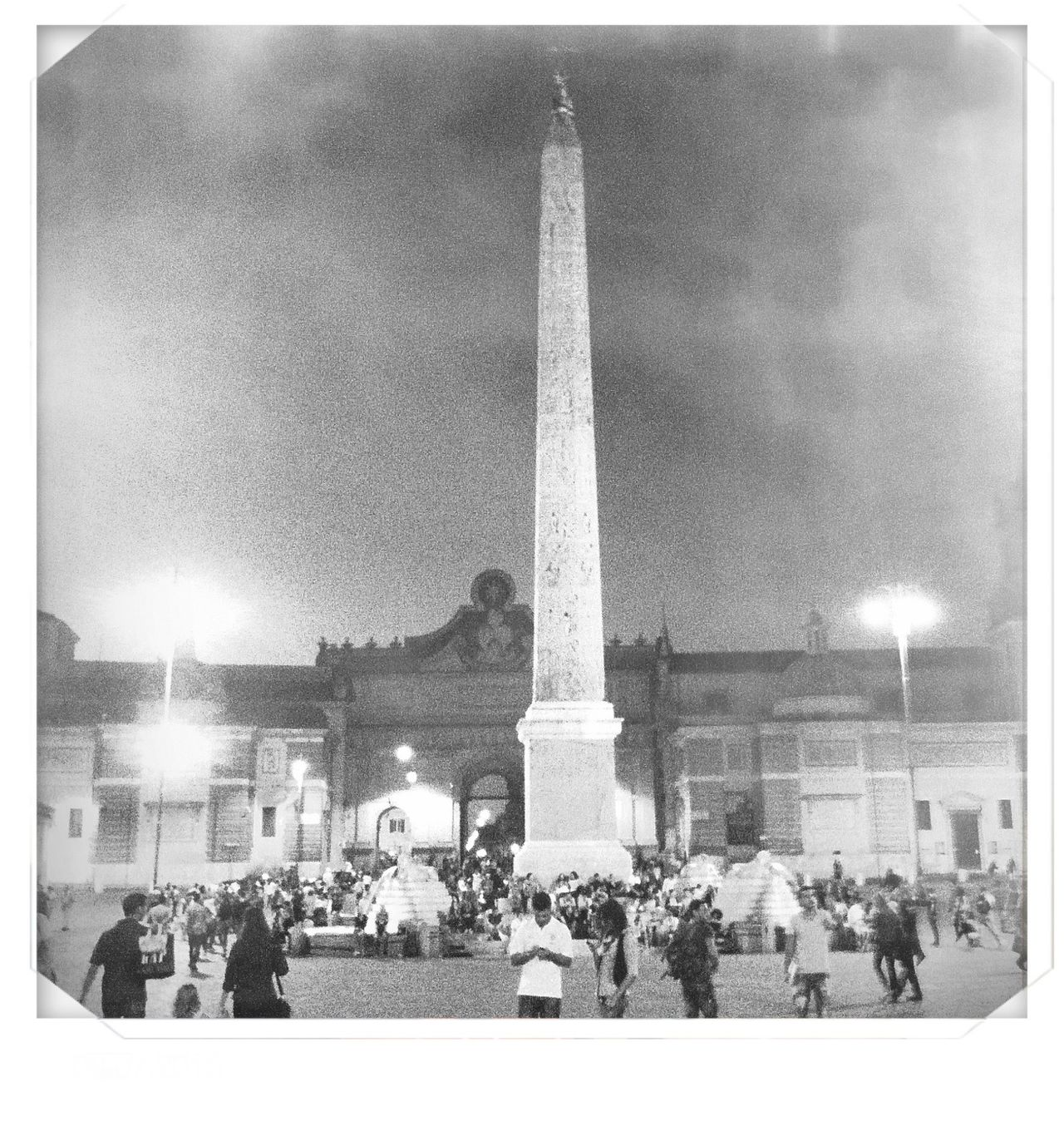 Architecture Building Exterior Built Structure Capital Cities  City City Life Famous Place History International Landmark Italy Large Group Of People Monument Obelisk Outdoors Piazza Del Popolo Religion Rome Statue