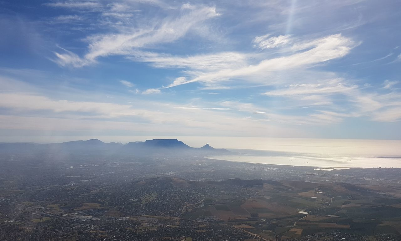 Cape Town South Africa 🇿🇦 Western Cape Cloud - Sky Social Issues Scenics Blue Landscape Outdoors No People Awe Idyllic Sky Environmental Conservation Nature Urban Skyline Water Beauty In Nature Sunbeam Day City Mountain Refraction