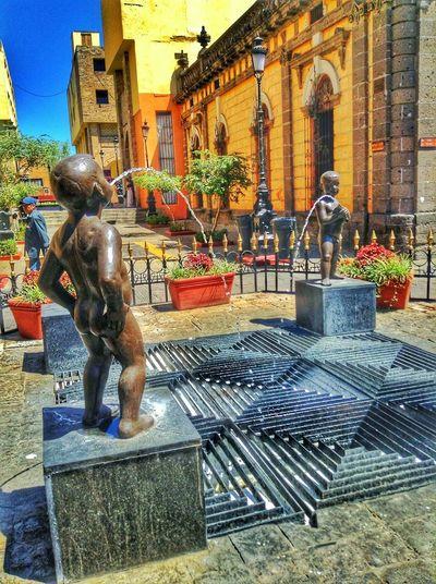 Miones Guadalajara Fountain Pee Guadalajara Jalisco Walking Around