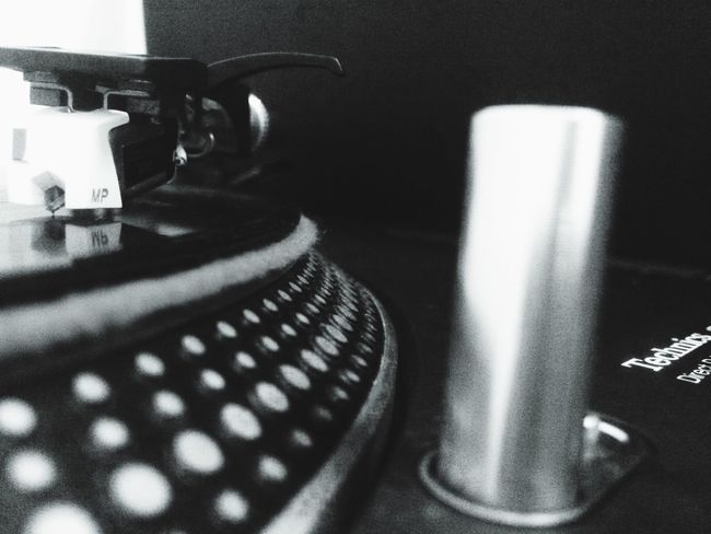 Turn table Technic 1200's My Hobby My House Spin Vinyl Records Count The Beats Music Is My Life BEATS Put The Needle To The Record Blackandwhite Photography Blackandwhite Sound
