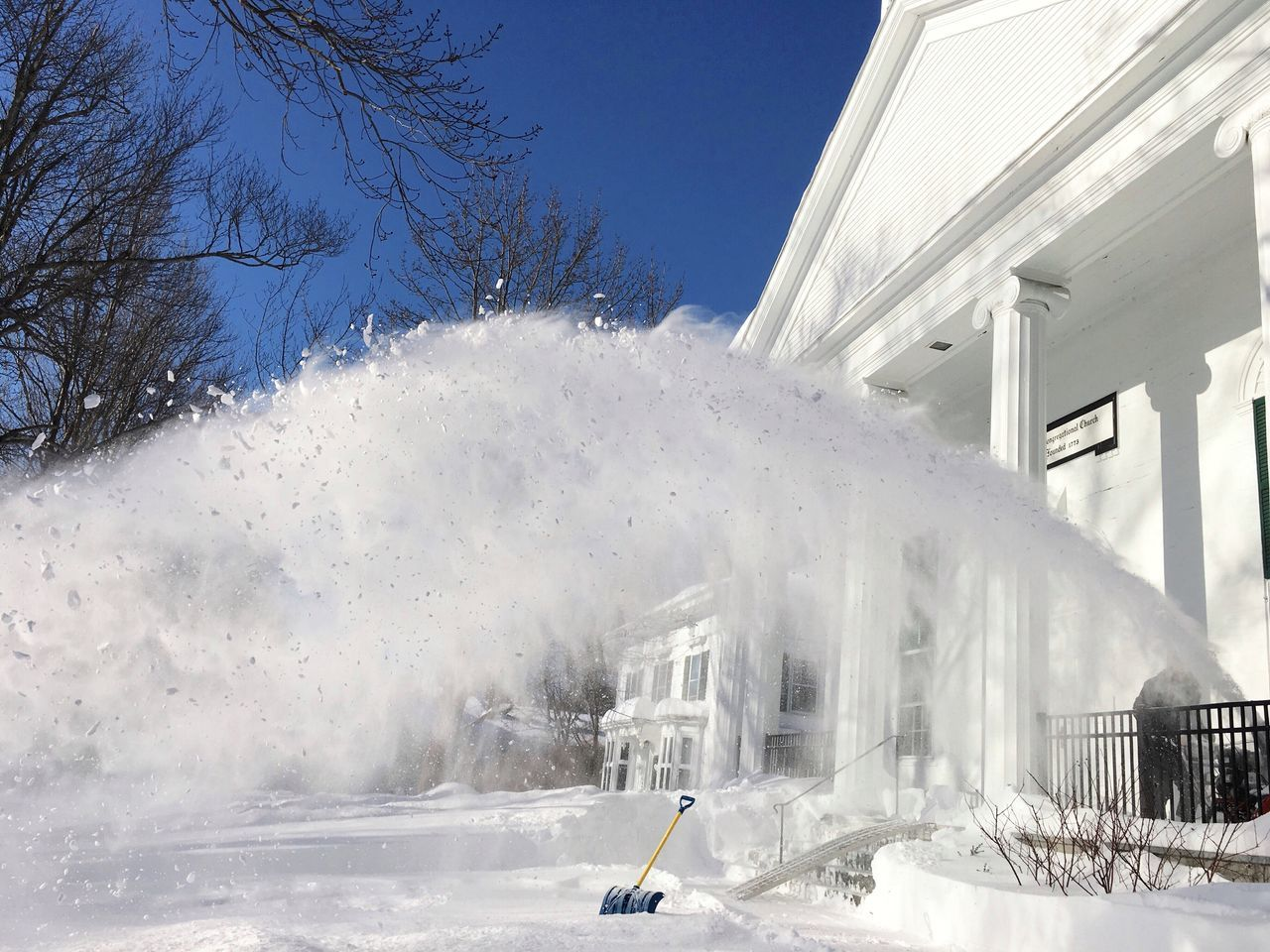 Snow Winter Cold Temperature Outdoors Snow ❄ Snowblowing Snow Blower