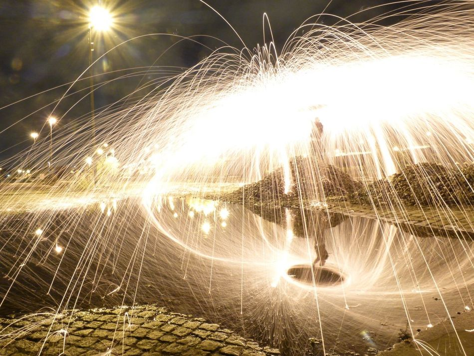 Lightpainting 👾 Lens Flare Glowing Sun Sunbeam Illuminated Long Exposure Light Beam Sunlight No People Firework Display Motion Outdoors Sparkler Nature Backgrounds Sky Water Wire Wool Space Inspirations Creative Photography Art Is Everywhere