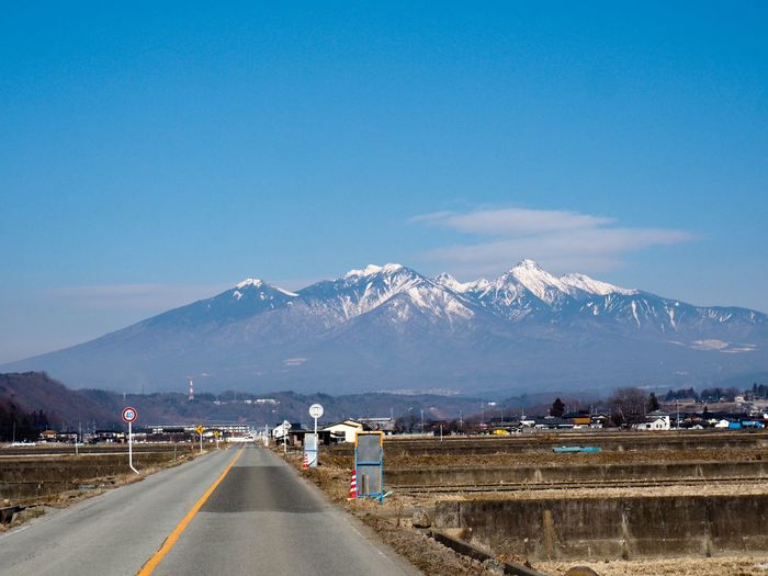 Yatsugatake Mountains Nature_collection Nature_collection Yamanashi,japan Yamanashi Yatsugatake Mountains EyeEm Selects Mountain Road The Way Forward Transportation Mountain Range Outdoors Day Sky Scenics Nature Blue No People Beauty In Nature Snow Landscape