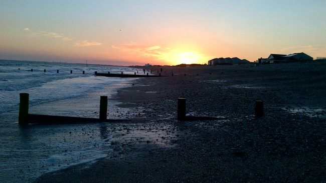 Here's an old Sunset Shot taken from BrackleshamBay Beach looking towards EastWittering Not a bad shot considering I used a Blackberry Playbook for this one! Chichester Westsussex