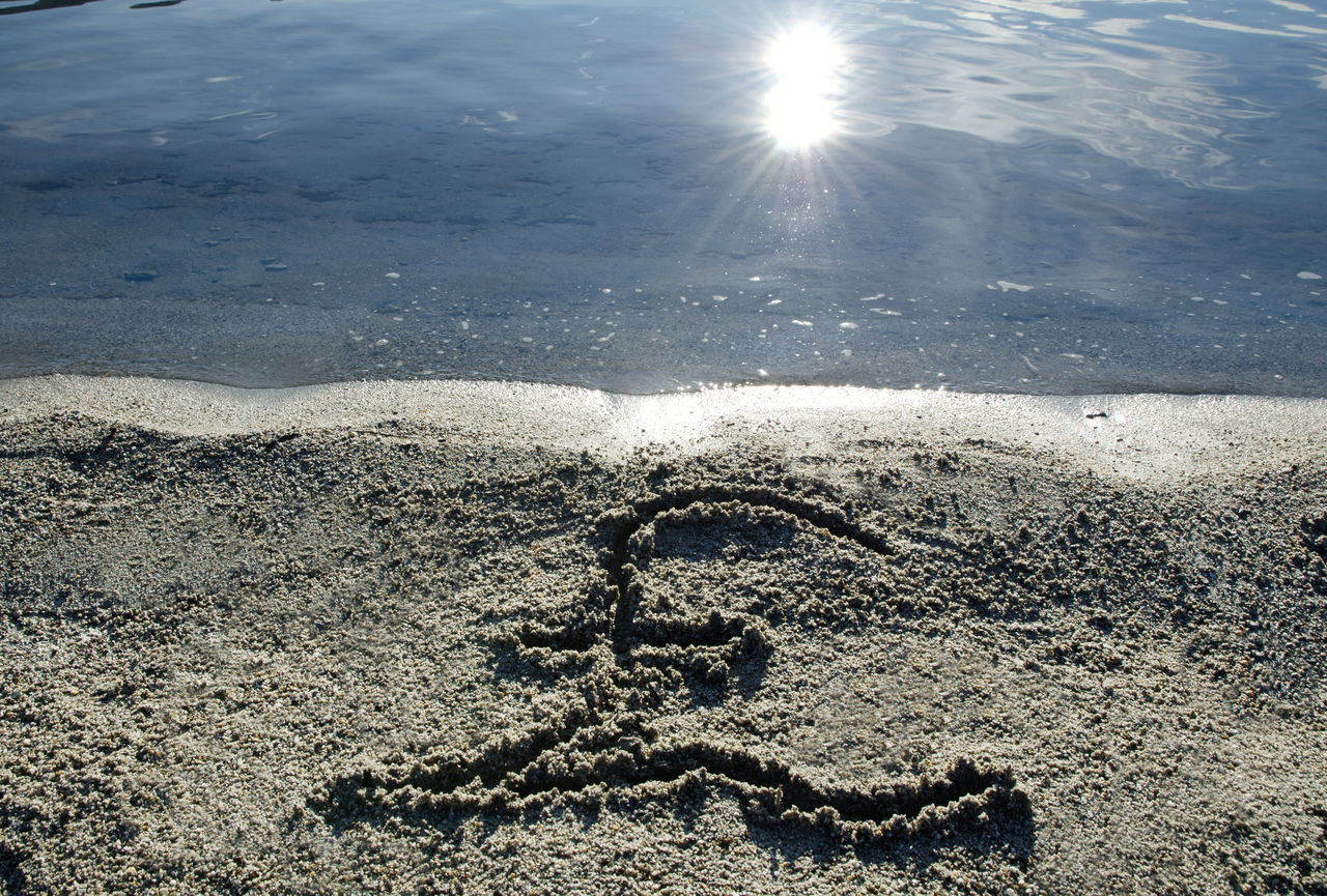 Sterling money symbol written on the beach with sunlight Beach Beauty In Nature Business Business Finance And Industry Close-up Day Drawing - Activity Economy Finance Finance And Economy Money Nature No People Outdoors Reflection Sand Sea Sterling Sun Sunbeam Sunlight Symbol Text Water Waterfront